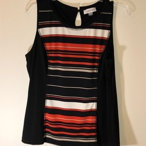 Calvin Klein Stripe front blouse